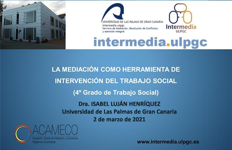 Impartición taller del alumnado de 4º curso de Trabajo Social de la ULPGC